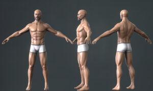 3D Model Character done in Blender