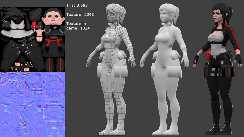3d Characters low poly